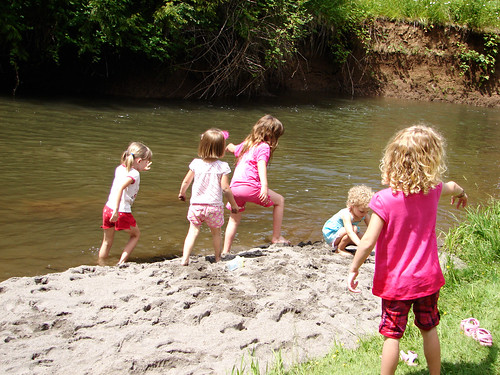 Cousins at the creek