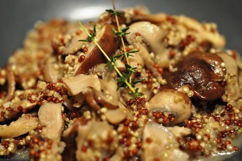 Red & White Quinoa Mushroom Risotto