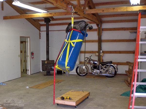 Unloading a Vertical Compressor
