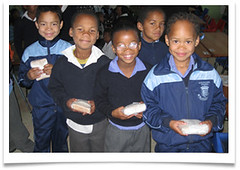 Learners with their sandwiches