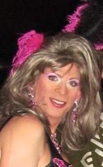 Me (Ragina Cline) Tags: pink party chicago sexy eye halloween boys girl bar club night drag town eyes october spin feathers makeup jewelry tgirl showgirl blond blonde saloon 31 crossdresser crossdress 2010 boystown