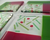 Fused Glass Coasters - Holiday Confetti