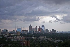 Severe Thunderstorm (airnos) Tags: atlanta storm weather skyline clouds skyscrapers midtown thunderstorm 2007 severethunderstorm