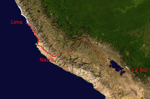 Lima-LaPaz via Nazca