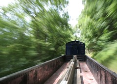 Fast Forward (zizzybaloobah) Tags: railroad motion blur june train movement eagle scenic engine wv westvirginia potomac gondola excursion 2007 romney