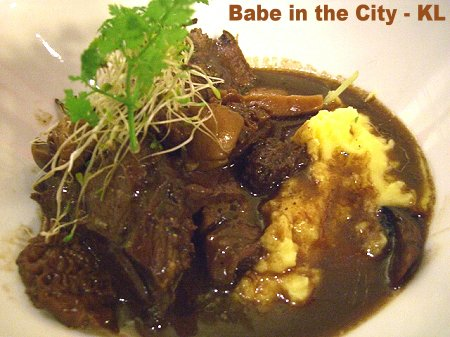 Max - Braised Shiraz Wagyu Beef Cheeks with mushroom ragout