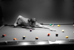 pool player color (aZ-Saudi) Tags: color pool cutout nikon player arabic saudi arabia d200 ksa   alhasa   arabin    arabs