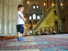Sultanahmet Cami ve Ubudiyet. (mehmetbabacan) Tags: kul pray istanbul mosque cami İstanbul sultanahmet selçuk dua çocuk yusuf namaz halis ibadet ihlas mimber kulluk babacan ubudiyet
