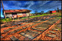 Track Attack (Stephen Kinna Photography) Tags: train track shed railway australia healesville victoria glen yarra hdr sleepers