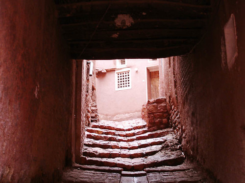 step by step until see .... -- iran abyaneh mailo kashan wall stairs light kiana red step see until