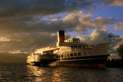 Maid of the Loch (Karen McWhirter) Tags: light sky clouds boats scotland ships soe lochlomond funnel maidoftheloch diamondclassphotographer theexploremachine