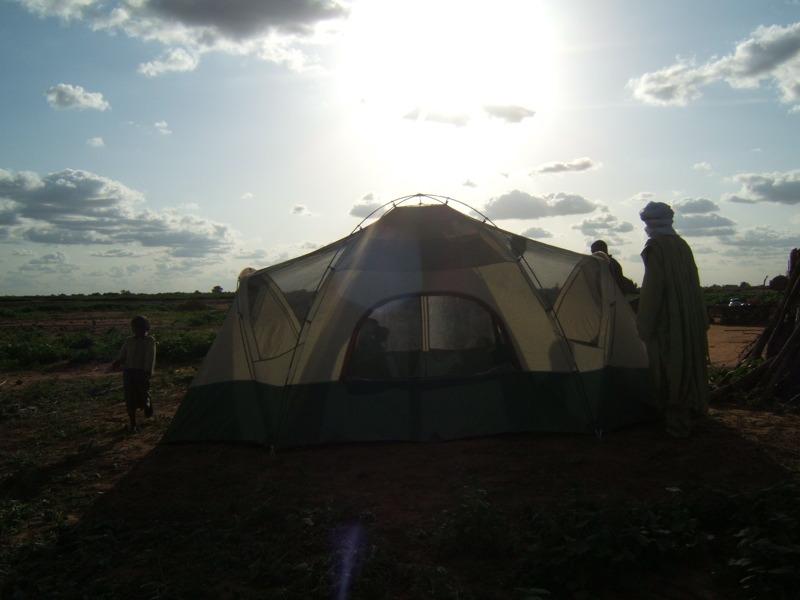 Installation de la tente