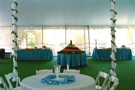 Tent with carpeted  full floor
