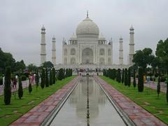 Vista del templo del Taj Mahal en Agra, India