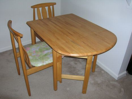 2) Folding Dining Table & Chair $39