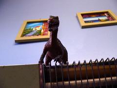 Dinosaur on heater