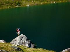 Lake Boulder (Dru!) Tags: lake canada green water whistler bc britishcolumbia september alpine squamish highfallscreek scramble scrambling cheakamus coastmountains southridge chancecreek tricouni eryne tricounipeak roecreek squamishcheakamusdivide
