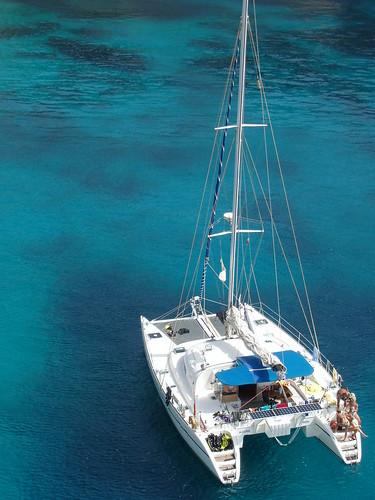 blue sea sailboat island yacht malta lagoon catamaran comino sailingboat