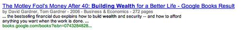 Building Weath Google