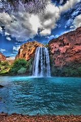 Havasu Fall (h.rav) Tags: travel summer vacation arizona usa fall nature water landscape waterfall nikon scenery hiking indian roadtrip havasu hdr summervacation labordayweekend havasupai sigma1020 nikond80 havasufall roadtripsummer2007 hualapaireservation havasupaitribe havasutribe