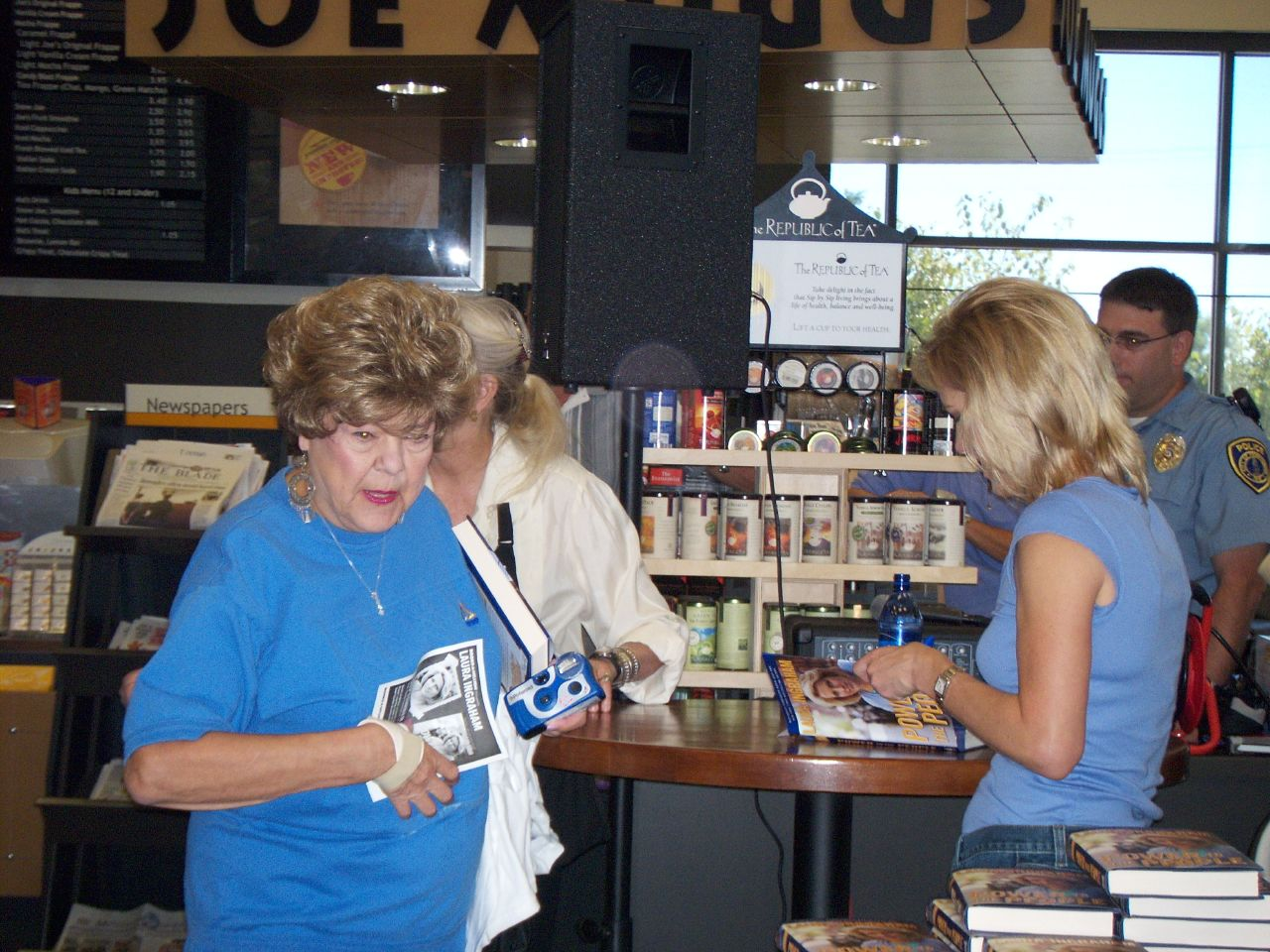 Laura Ingraham signs her new book in Perrysburg Ohio