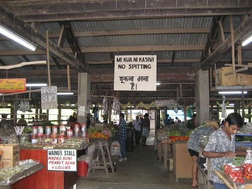 Savu Savu market entrance