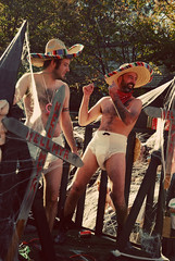 Sombreroers (moke076) Tags: atlanta man men halloween festival hair georgia fun costume dancing body el parade diaper sombrero mustache float seventies l5p 2010 elmyr myr little5points little5
