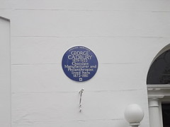 Photo of George Cadbury blue plaque
