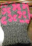 Back of Sakura mittens