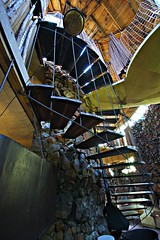 Spiral stairs, Bavinger house (Thompson Photography) Tags: norman architect 311 ok picnik organicarchitecture brucegoff oklahomatrip1010