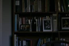Sombre Hues (unleicaly) Tags: poetry books photographs bookshelves hughes plath divination prime50mm originalpoem abouthimself wherethelightfalls photomancy