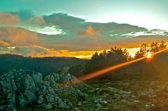 Sunset (jordancasu) Tags: autumn sunset mountain forest sunburst