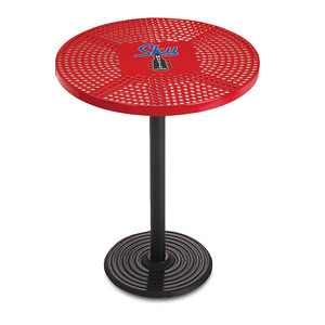 D1155C - Portable Bar Height Bistro Table with Perforated Surface and Custom Graphics