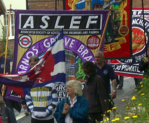 ASLEF on march by tomroper