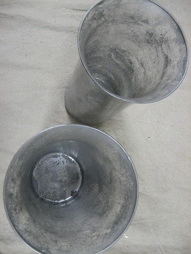 Fake Mercury Glass Candle Holders
