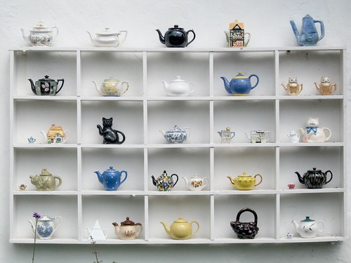 Teapots at the Tea Shop at the Grand Wes by pigpogm, on Flickr