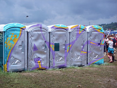 ATG Portaloo (Luke_23) Tags: up festival graffiti mud tag glastonbury banksy dub toilets throw atg 2007 portaloo ldn throwie