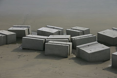 Blocks (thepapercrane) Tags: beach construction dorset blocks lymeregis concrette