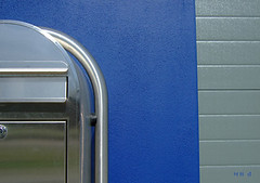 You've got mail (M@rty's Photos) Tags: blue abstract dutch mailbox hut marty schiedam eyeseethings managementboeknl
