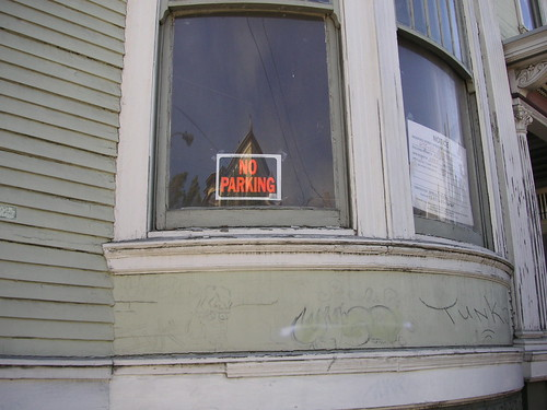 No Parking under this window