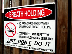 A sober message about competitive breath holding.