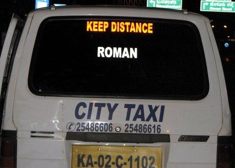 Roman city taxi