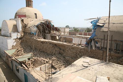 Iglesia destruida por el terremoto