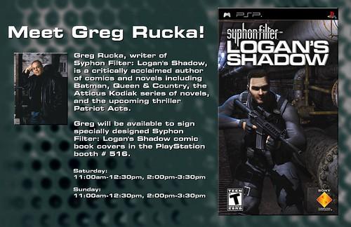 Greg Rucka Appearing at Penny Arcade Expo