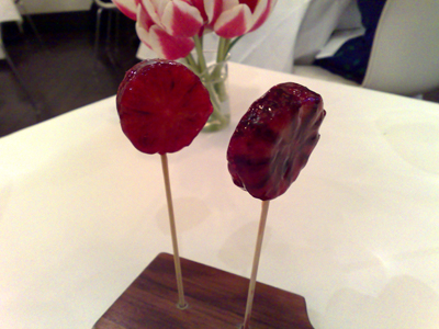 blood orange and campari jelly frozen lollypops