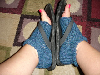 Free Crochet Pattern Toeless Socks : Ravelry: Pedicure Socks pattern by Deneen St Amour