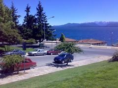 Playa de Bariloche desde la plaza.