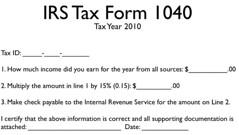 Flat Tax Proposal