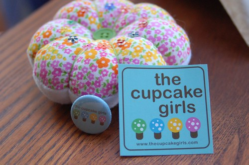 Cute pincusion from The Cupcake Girls