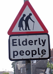 BEWARE! ~ Elderly People (macy has left the building) Tags: old england people sign danger walking beware streetsign bum explore elderly roadsign roadsigns oldpeople stickfigures ulverston pinch pickpocket anotherroadsideattraction